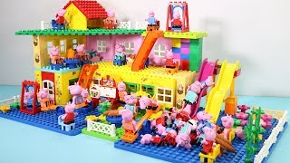 Peppa Pig Lego House Creations With Water Slide Toys For Kids #2