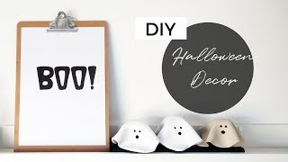 DIY MINIMAL HALLOWEEN DECOR | Ghost Figures