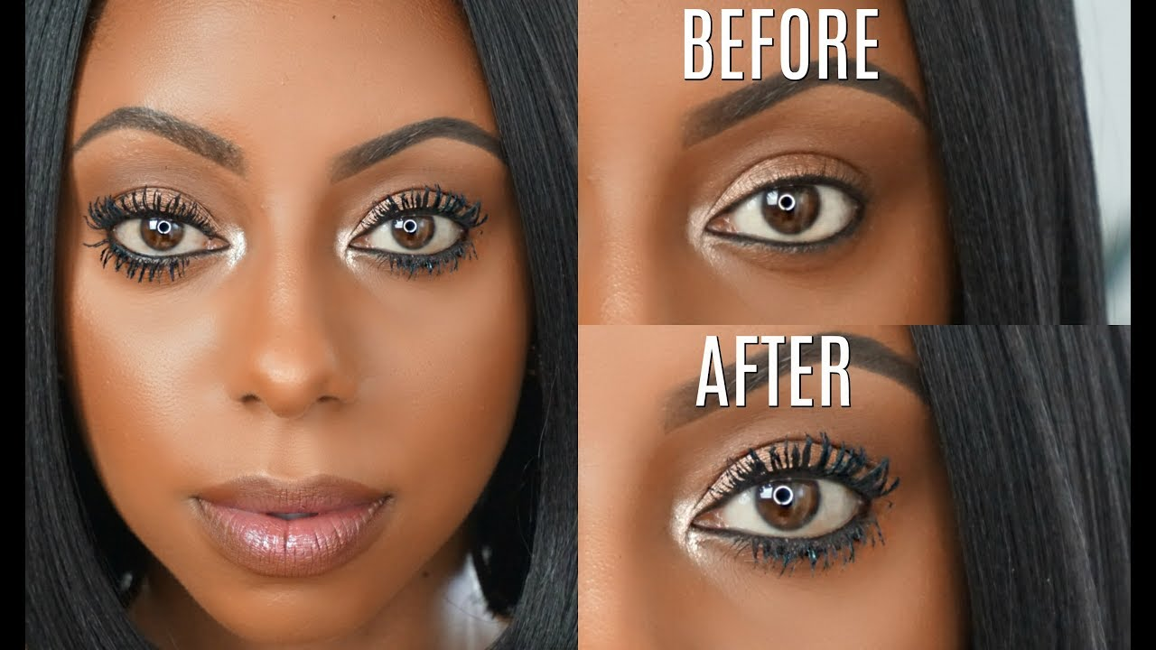 24b4f8baa31 How to make your EYELASHES appear LONGER! Mascara routine | Jessica Pettway