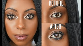 How to make your EYELASHES appear LONGER Mascara routine Jessica Pettway
