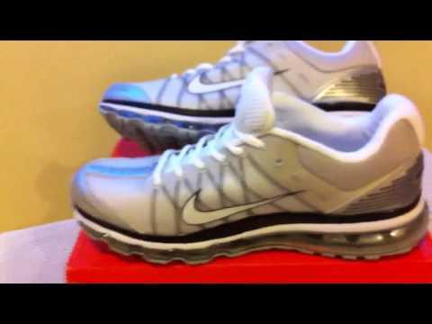 Mens Nike Running Shoes Airmax Grey White Black