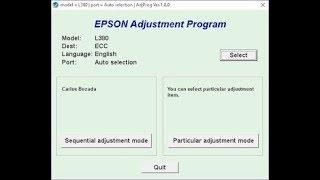 RESET EPSON L380 , L383, L385, L485 ADJUSTMENT PROGRAM FULL VERSION