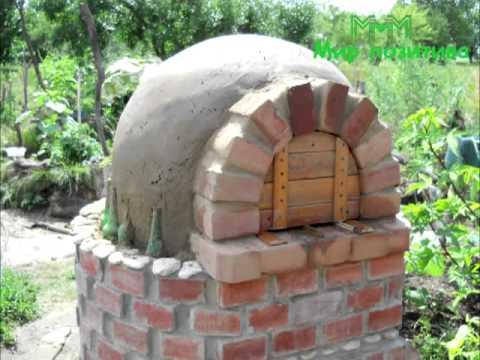 Дворовая печь-духовка на дровах!