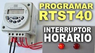 Gambar cover Como programar o RTST 40 - Interruptor horário digital Coel