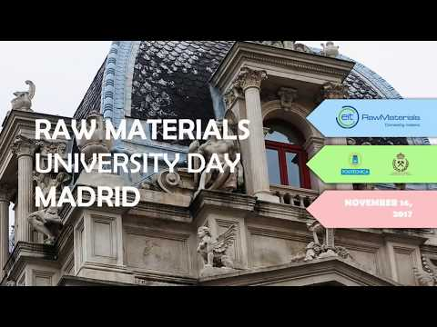Welcome to Raw Materials University Day 2017 MADRID