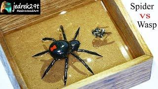 Spider Vs. Wasp in Epoxy Resin / Resin Art