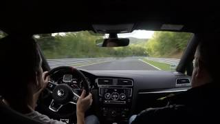 2017 Golf Gti Clubsport Chasing 911 Gt3 At Nurburgring Nordschleife
