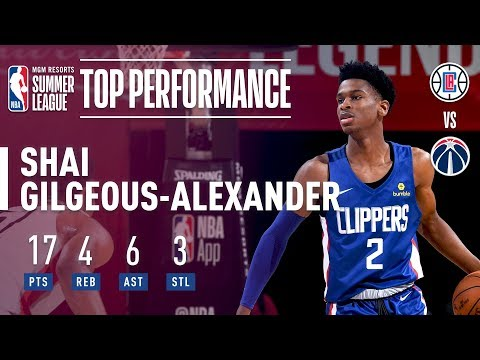 Shai Gilgeous-Alexander Fills Up The Stat With 17 Points In 2018 MGM Resorts Summer League Action