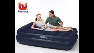 BESTWAY 67345 Inflatable Bed unboxing and review / Надувная кровать распаковка и обзор