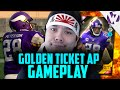 GOLDEN TICKET AP vs. GOLDEN TICKET AP!!!! Madden 16 GOLDEN TICKET ADRIAN PETERSON GAMEPLAY