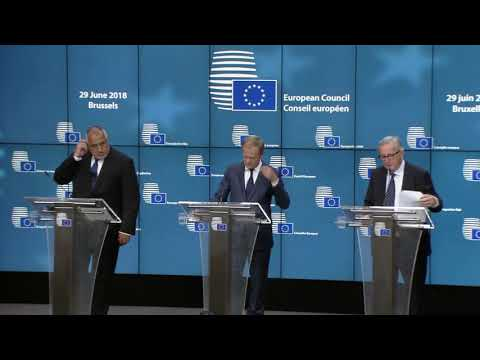 European Council, June 2018-- press conference