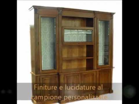 Libreria pareti attrezzate arredamenti in legno massello for Mobi arredamenti