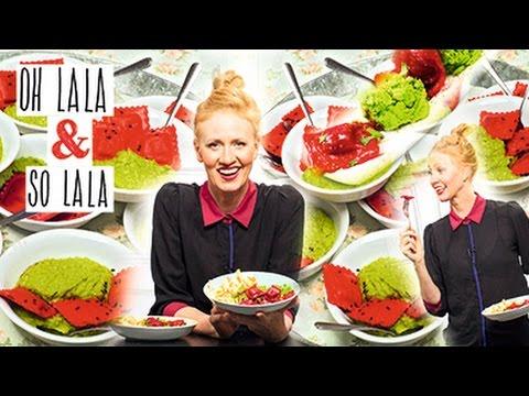 Gesund & Vegan kochen * Rote Beete Ravioli mit Erbsenpüree * In nur 10 Minuten * Mega lecker