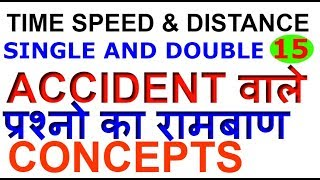 TRAINS SINGLE & DOUBLE ACCIDENT PROBLEMS|Concepts of ACCIDENT PROBLEMS| SSC CGL/BANK PO-15[IN HINDI]