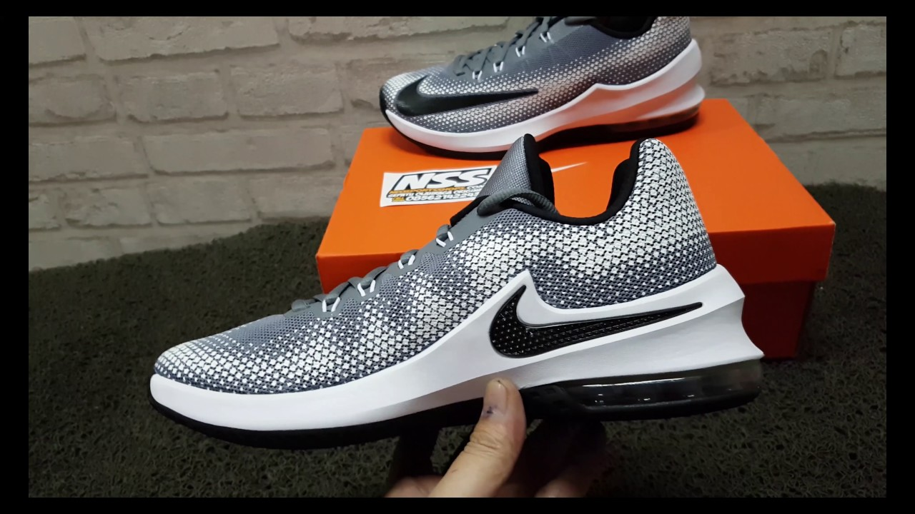 the latest 051dc e9610 SEPATU BASKET NIKE AIR MAX INFURIATE LOW GREY BLACK