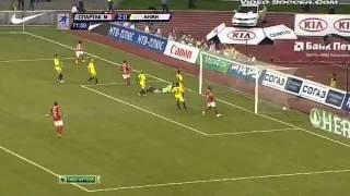 Спартак Москва-Анжи 3-0. Гол Козлова.