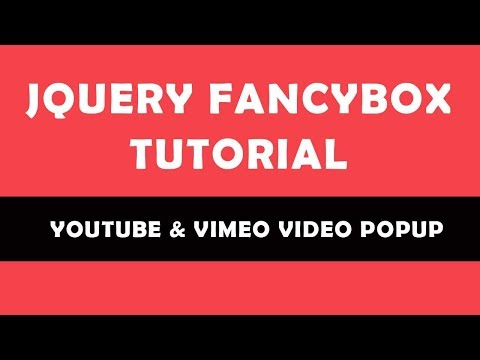 How To Use JQuery FancyBox Plugin | FancyBox3 Tutorial | Beginner's Tutorial