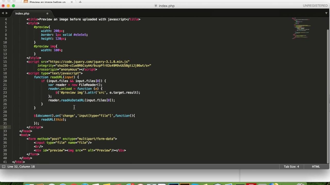 Javascript - preview image before upload
