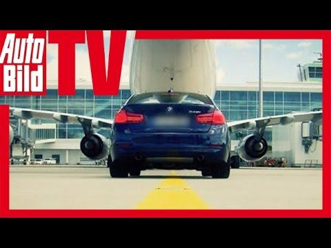 BMW 340i vs. Airbus A340 - Duell auf dem Flugplatz Review/Test