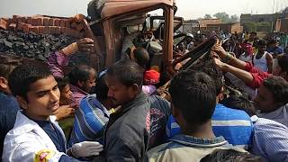 RAMGARH 4 LINE ROAD ACCIDENT 407PICKUP GADI OR AND TRACK