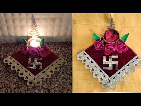 diwali lamp craft idea/diwali decoration idea/diya stand/Diwali craft idea/candle stand for diwali