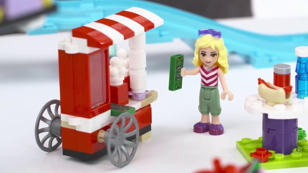 LEGO FRIENDS 41130 Amusement Park Roller Coaster - YouTube