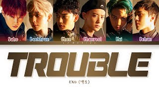 EXO Trouble Lyrics (엑소 Trouble 가사) [Color Coded Lyrics/Han/Rom/Eng]
