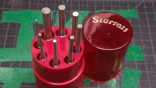 Unboxing Starrett 8 Piece Pin Punch set