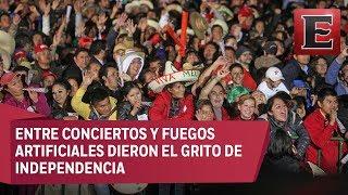 mexicanos y extranjeros celebran el grito en el zócalo