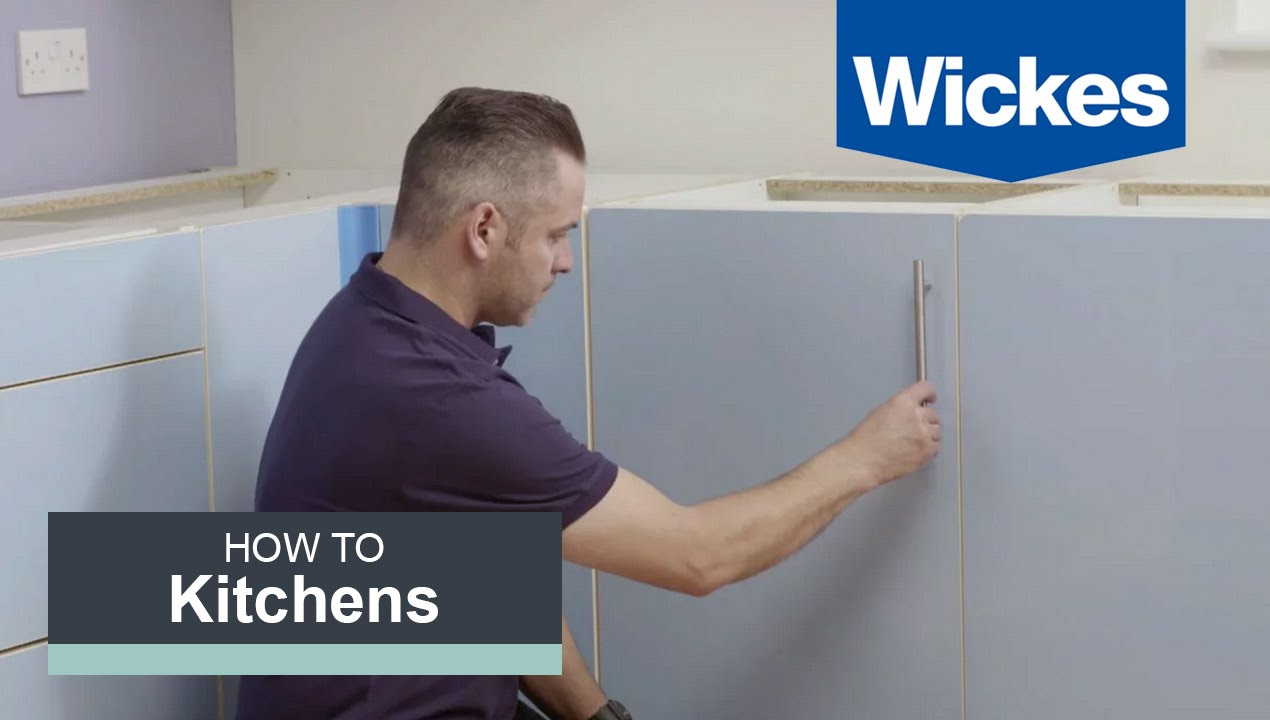 How To Fit Handles To Doors And Drawers With Wickes Youtube