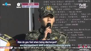 Engsub Hyun Bin Full speech on the day of discharge from military 2012 12 06 TVN News