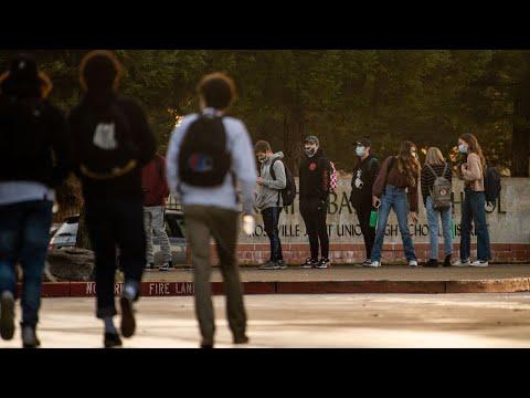 See Granite Bay High School students return to campus amid coronavirus pandemic