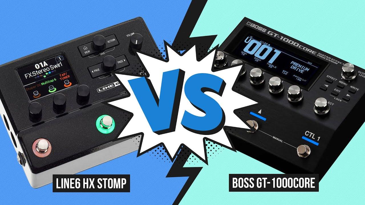 Line 6 HX Stomp vs. Boss GT-1000Core - Audio Comparison (no talking)