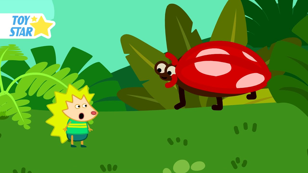 The largest ladybug in the world. Cartoon for children