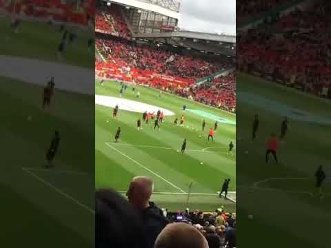 BUSY DOING NOTHING: 1 Minute of Anthony Martial WEIRD Pre-Match Warm up Routine Of Nothing