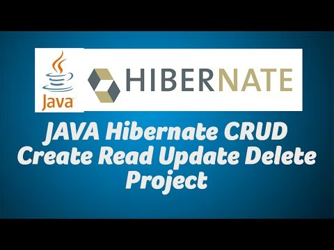 JAVA Hibernate CRUD Create Read Update Delete Project