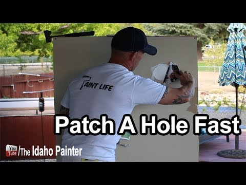 How To Patch And Repair Drywall Fast.  Ryobi Tool Tips.