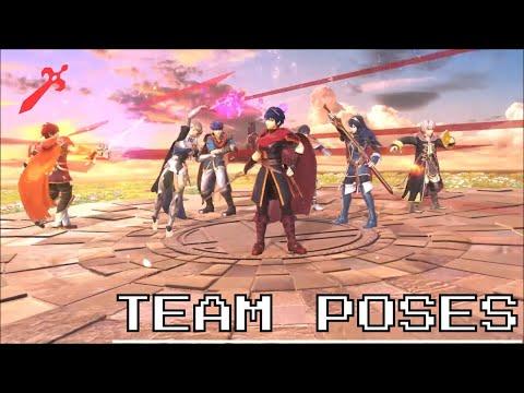 Super Smash Bros. Ultimate - Team Victory Poses