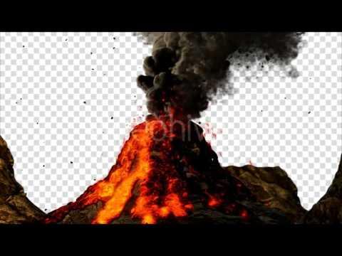Volcano Eruption | Background Animation Video - YouTube