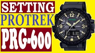 Setting Casio ProTrek PRG-600 manual 5497 for use