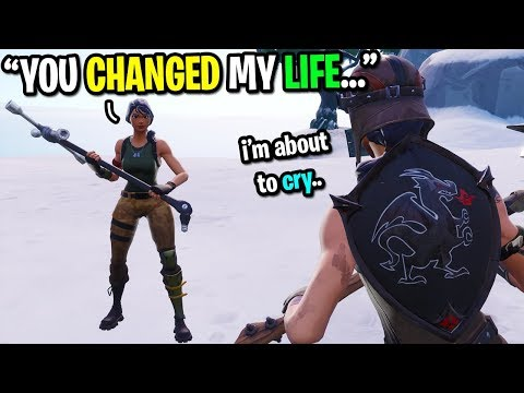 We forever changed this guys life because of Fortnite... (emotional)