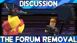 The Forum Removal: It's Over [ROBLOX Discussion] thumbnail