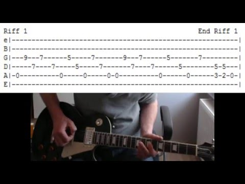 AC/DC: Hell's Bells. Guitar lesson with tab.