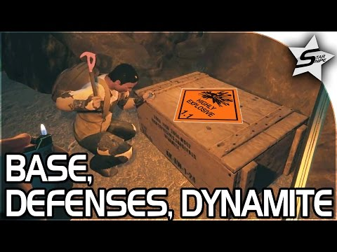 BASE BUILDING, DEFENSES, DYNAMITE!! - Tribal Warfare Part 2 - The Forest Gameplay