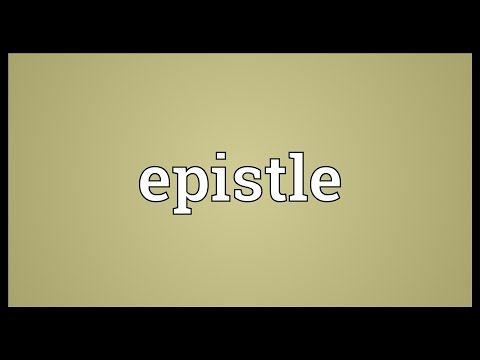 Epistle Meaning
