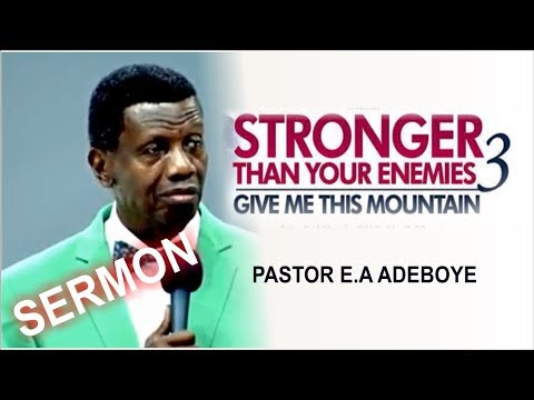 Pastor E.A Adeboye Sermon @ RCCG March 2018 HOLY GHOST SERVICE