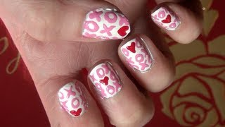 xs and os valentine s day nail tutorial