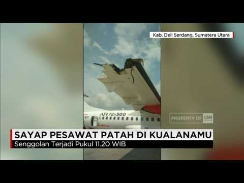 Sayap Lion Air & Wings Air Patah usai Bersenggolan di Bandara Kualanamu