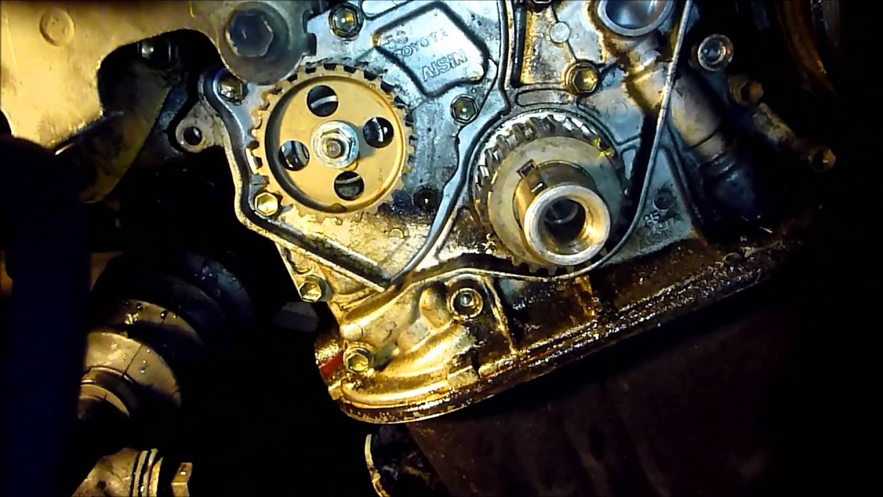 1993 toyota celica timing belt replacement on a 5sfe engine part 2 [ 1280 x 720 Pixel ]
