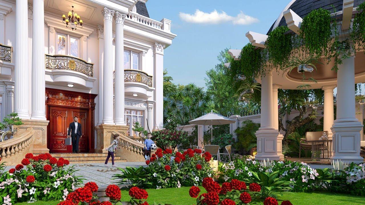 Gợi Ý Một Số Mẫu Thiết Kế Sân Vườn Cho Biệt Thự Đẹp Xu Hướng 2020